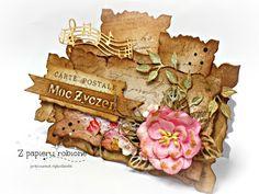 kartka na urodziny/ birthday card Place Cards, Scrapbooking, Place Card Holders, Scrapbooks, Memory Books, Scrapbook, Notebooks