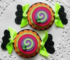 Halloween EmbellishmentsSet of 2 Candies by sarasscrappin on Etsy, $2.99