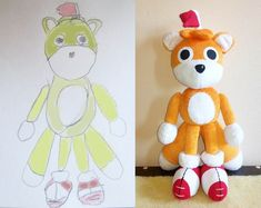 It is a sample of the toy i can make from drawing. Inspired by Tails doll inspired plush , Custom Tails Doll Plushie, tails doll plushie Softies, Plushies, Tails Doll, Photo Scan, Plush Dolls, Day Up, Picture Show, Christmas Time, Doll Drawing