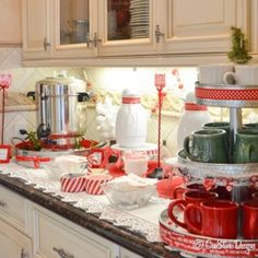Set up a hot chocolate station for Christmas Eve or Christmas Morning