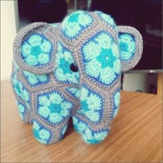 Amigurumi is very popular now. We see thousands of new models every day. We also found a few models Crochet Hippo, Crochet Elephant, Crochet Motif, Crochet Designs, Crochet Dolls, Crochet Flowers, Crochet Baby, Free Crochet, African Flower Crochet Animals