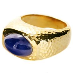 1stdibs | DAVID WEBB Authentic Non-Heated Sapphire Yellow Gold Ring AGTA