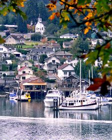 Gig Harbor. Crazy. I was feeling homesick. Pin seached my home town. Found This picture taken from the back of my house. Its actually Fox Island.