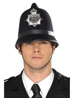 Mens Adult British Bobby English Policeman Police Officer Helmet Hat Fancy Dress   eBay