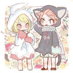 Natsu y Lucy.....que kawai . ;) .. :) xdxdç
