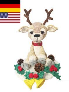 Das Rentier möchte sehr gerne von Dir gehäkelt werden und freut sich schon total auf Advent und Weihnachten. Magst Du gleich loslegen mit dem Häkeln?