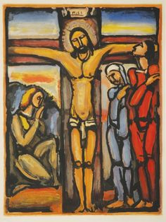 Christ on the Cross, 1920, Georges Rouault.