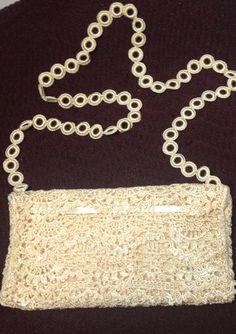 A cream handbag