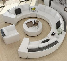 Explore the Most Beautiful Contemporary Curved Sofa Design Ideas at Live Enhanced. Visit for more images and take some ideas about Curved Sofa Designs. Gebogenes Sofa, Tan Sofa, Sofa Furniture, Living Room Furniture, Modern Furniture, Furniture Design, Rustic Furniture, Antique Furniture, Outdoor Furniture