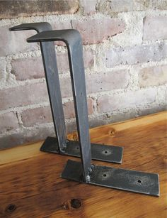Handcrafted Metal Shelf Brackets, Modern Industrial Shelf Brackets,Custom Sizes available.  THIS LISTING IS FOR ONE BRACKET.    These Modern