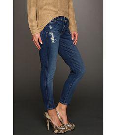 7 For All Mankind Josefina Skinny Boyfriend In Distressed Starry Night - Blugi - Imbracaminte - Femei - Magazin Online Imbracaminte Women's Jeans, Jeans Dress, Blue Jeans, Skinny Jeans, Pants, Live In Jeans, Bell Bottom Jeans, Boyfriend, Night