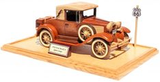 The woodworking plan patterns for the Ford Model A are all full size. They include instructions for the detailed wheels, the base and plaque. Wooden Toy Trucks, Wooden Car, Coloring For Kids Free, Wood Toys Plans, Handmade Wooden Toys, Woodworking Jigs, Ford Models, Wood Projects, How To Plan