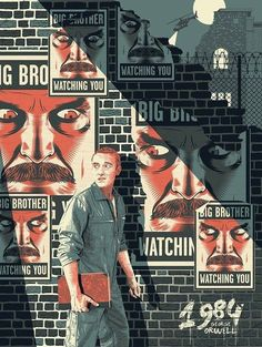 geek-art: Guillaume Morellec – 1984 for Epic Art Prints Big Brother is Watching… Science Fiction, Nineteen Eighty Four, Films Cinema, Photocollage, Epic Art, Expo, Geek Art, Cover Art, Literature