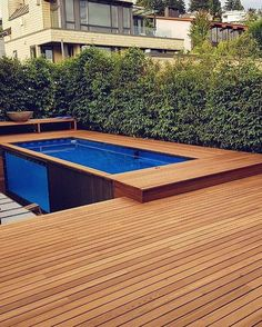 Container Swimming Pool: 25+ Exhilarating Ideas for Fun Summertime Backyard Pool Designs, Small Backyard Pools, Small Pools, Swimming Pools Backyard, Mod Pool, Shipping Container Swimming Pool, Hidden Pool, Beach Entry Pool, Casas Containers