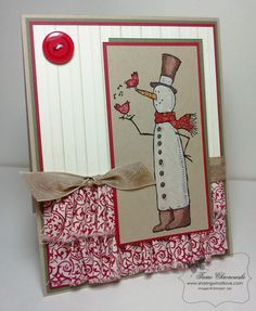 Goodbye Cutie Snowman by TamiC - Cards and Paper Crafts at Splitcoaststampers