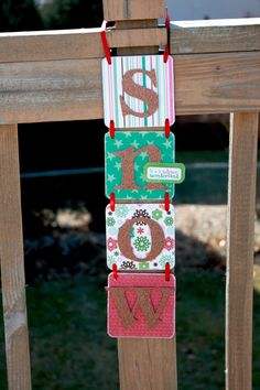 Christmas Decoration  SNOW  Hanging Sign  Christmas by GlitterMe, $22.00