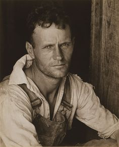 """Photographer: Walker Evans: Farm Security Administration Photography project during the Great Depression. """"Sharecropper- Floyd Burroughs"""""""