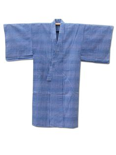 ☆ New Arrival ☆ '#Cool #Blue' #Mens #handstitched #vintage #cotton #yukata #Japanese #kimono with blue #stripes #pattern from #FujiKimono http://www.fujikimono.co.uk/fabric-japanese.html
