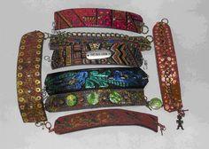 DIY Recycled Belt Bracelets byBarbara Matthessen.