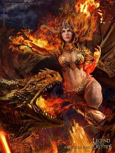 Lava Queen of the War-torn Maelstrom - Advanced by *Mariana-Vieira on deviantART