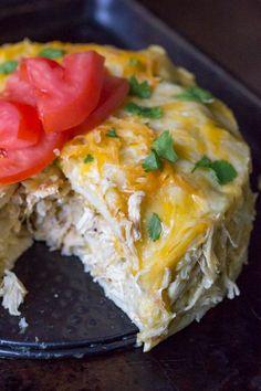 Instant Pot Salsa Verde Chicken Enchilada Casserole - Recipe Girl