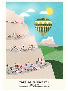 solo bicis: Los afiches vintage del Tour de France 2011
