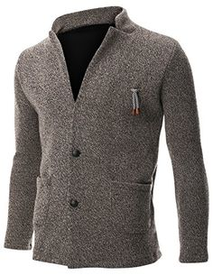 FLATSEVEN Mens Knit Jacket Sweater Cardigan 2 Button Stand Collar with Pocket (C401) Beige, M FLATSEVEN http://www.amazon.com/dp/B00NGFWJBY/ref=cm_sw_r_pi_dp_XcC0ub042N67Q #Mens Knit #Jacket #Sweater #Casual #Cardigan with Pocket #FLATSEVEN #fashion #men