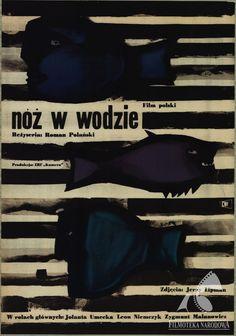 Polish posters: NÓŻ W WODZIE - Jan Lenica (1962) (GAPLA) #gapla #polishposter #lenica