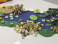 Dozens of imaginative play sets from gathered, upcycled, homemade items.