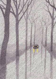 Pierre Le-Tan, 'Wooded Lane'.