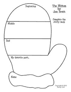 "Graphic Organizer for story ""The Mitten"""