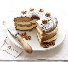 Mascarponés diókrémes torta