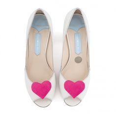 Zapatos de Novia Peep Toe modelo Andi Pink de Charlotte Mills ➡️ #LosZapatosdetuBoda #Boda