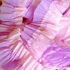 Baby Pink and Lavender Ruffled Crepe Paper Streamers - Party Decorations - Craft and Party Supplies