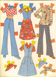 Vintage 1970s paper doll