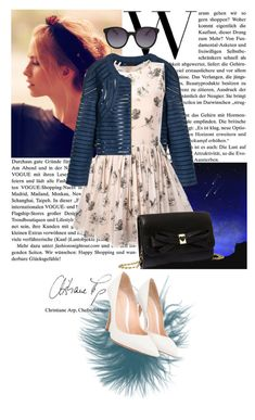 """""""Fashion Denin"""" by lolitagrega ❤ liked on Polyvore featuring Paul Frank, Cynthia Rowley, RED Valentino, Gianvito Rossi, Betsey Johnson, MANGO, denim and trendreport"""