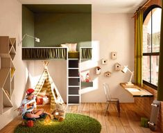 Play and colour are the stars of the LAGO children's room: modern design-driven rooms filled with colour and imagination. Modular Furniture, Kids Furniture, Suspended Bed, Kids Corner, Kid Spaces, Kid Beds, Children's Place, Kids Decor, Boy Decor