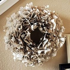 Book Page wreath - I made this one. I absolutely LOVE how it looks in my home! by marian
