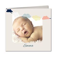 Geburtskarte Wolkengirlande (R-5612)