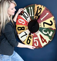 Big Clock, old license plates