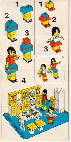 LEGO 263 Kitchen instructions displayed page by page to help you build this amazing LEGO Homemaker set