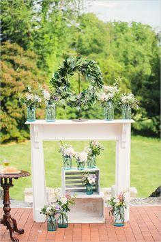 wedding ceremony backdrop @weddingchicks