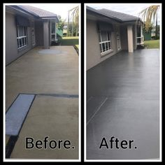 Transform your house with driveway and concrete painting by www.waterworxpressurecleaning.com.au