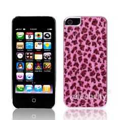 #Leopard Skin Hard Snap-On Cover Case For #iPhone 5 [DBPU-PV1698] - $14.00 : #Magenta