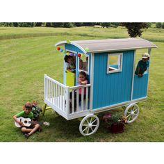 Cabane - Roulotte en bois pour enfant Carry SOULET - 782856 - Jardin piscine