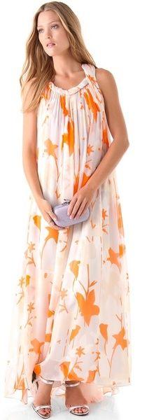 DVF Mirina Maxi  grecian twist Dress     dressmesweetiedarling
