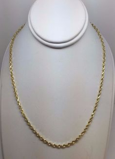 """SOLID HEAVY 14K YELLOW GOLD ROPE 2.75 MM 30"""" CHAIN NECKLACE 14 GRAMS #Chain"""