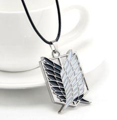 Attack On Titan Necklace - Scouting Legion Silver