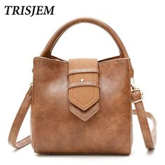 27497c6ff021 Aliexpress.com   Buy TRISJEM Women Mini Bucket Bags Vintage Brown Belt Handbag  Women Tote Bag 2017 Luxury Leather Handbags Design Black Green Red from ...