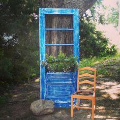 Old chair and door redo!
